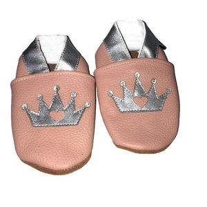 Augusta Baby Pink Princess Moccasins Shoes 6-12m